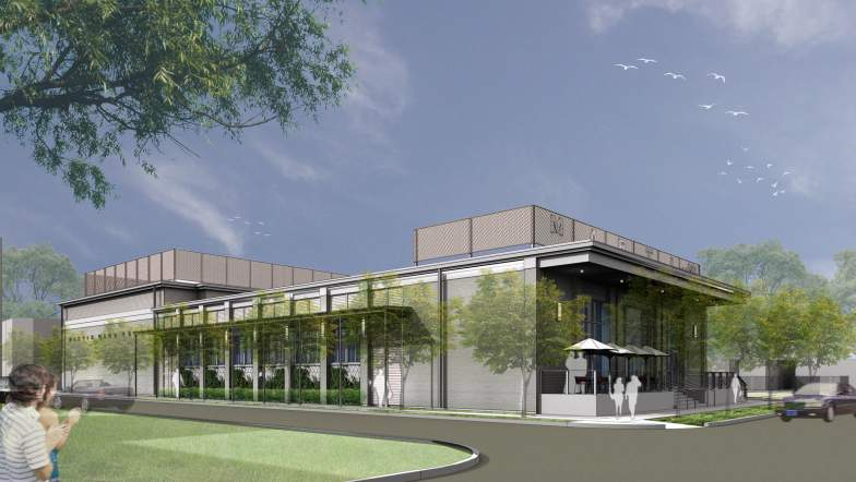 Rendering of the New Building.