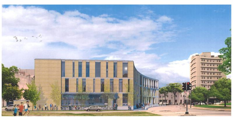 Rendering of GNOF's New Building
