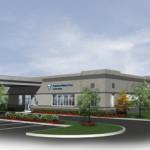 A Fresenius Medical Center building planned for Cleveland, Ohio.  Rendering via Cleveland.com.