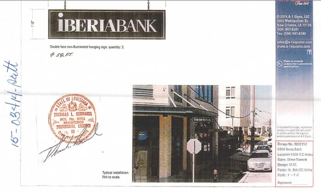 IberiaBank OC Haley Permit
