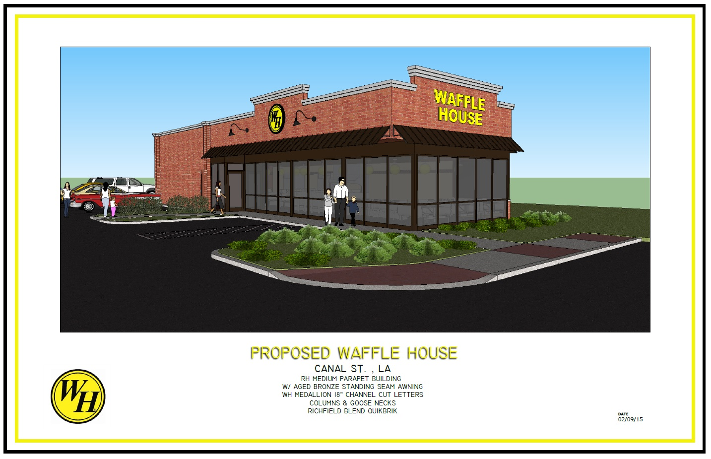 Waffle house building new restaurant next to the va for New building design plan