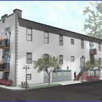 A rendering of the planned renovation at 2739 Palmyra St., designed by MetroStudio architects. (Rendering via Alembic Community Development)