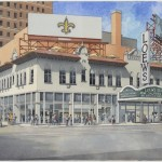 Rendering of the Loews State Palace Theatre after renovation via Lacdb.com