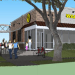 A rendering of the proposed Waffle House via City of New Orleans.