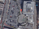 An Aerial view of the Piazza d'Italia site via Google Maps.