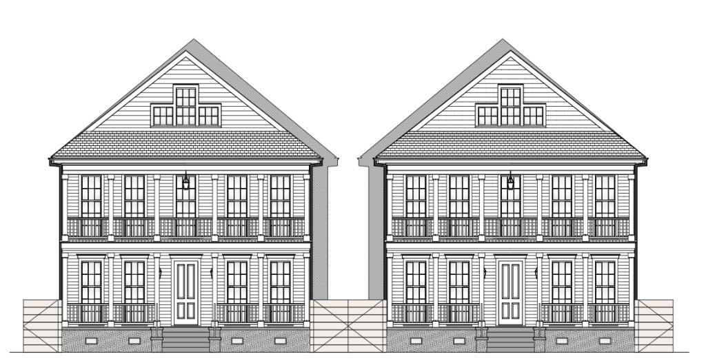 Baker's Row Elevation
