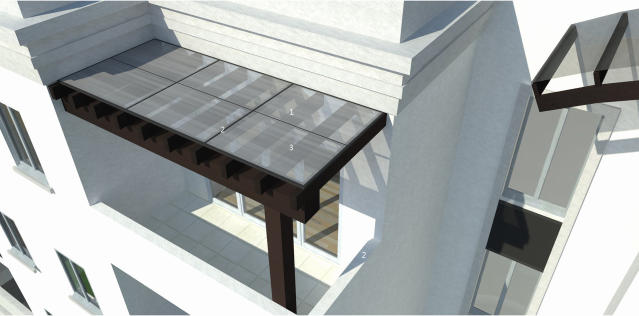 A rendering of the roof deck by Harry Baker Smith Architects, via City of New Orleans.