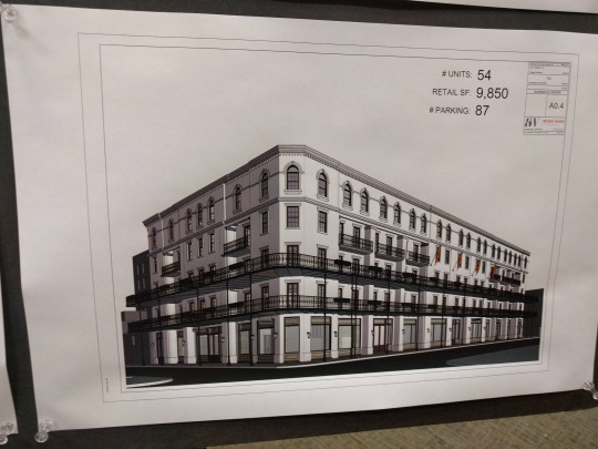 Rendering of the new development from the Warehouse District Association meeting.