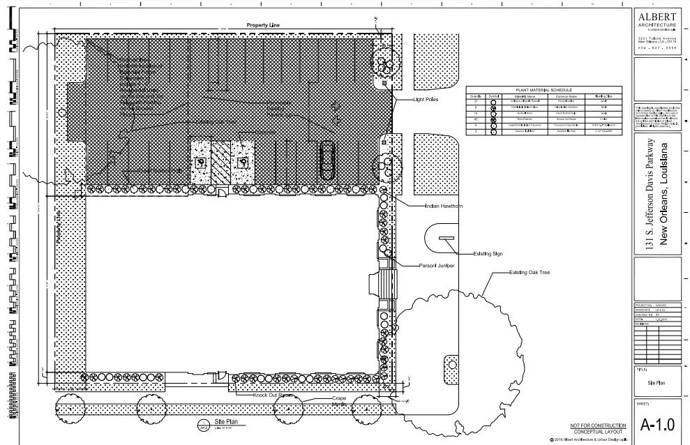 Proposed plans by Albert Architecture via City of New Orleans.