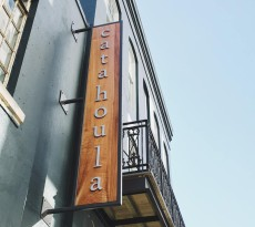 Photo of the new Catahoula Hotel sign via Catahoula's Facebook page.