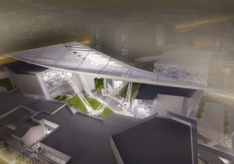 Rendering of the new WWII Museum Canopy of Peace