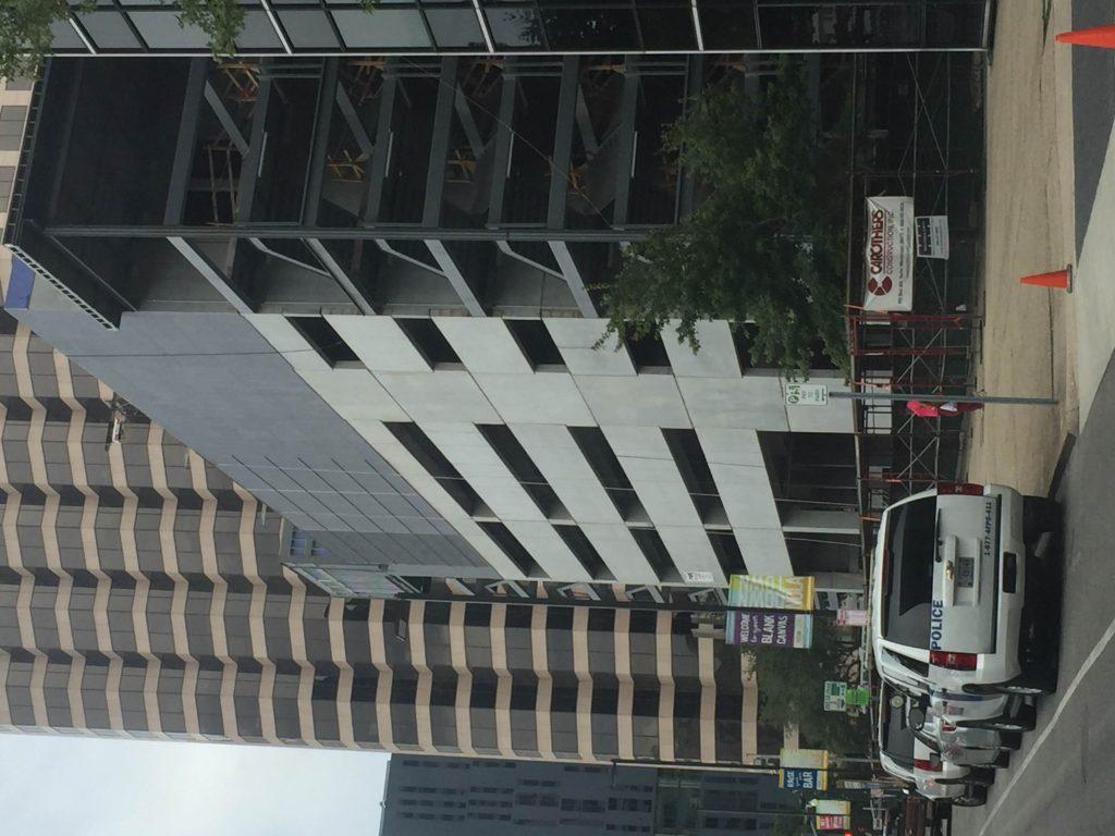 Photo of construction progress at 1200 Poydras Street in the CBD.
