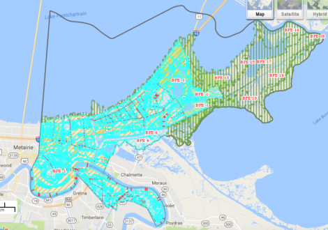 New FEMA Flood Maps in Orleans Parish via FEMA.