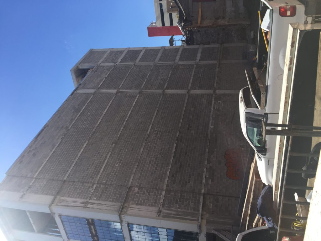 Photo of the Cambria Suites under construction at 632 Tchoupitoulas Street