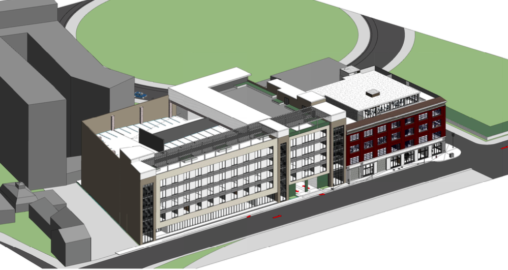 Preliminary rendering of the 1047 Camp Street project by Phyllis Taylor via Woodward Design Group.